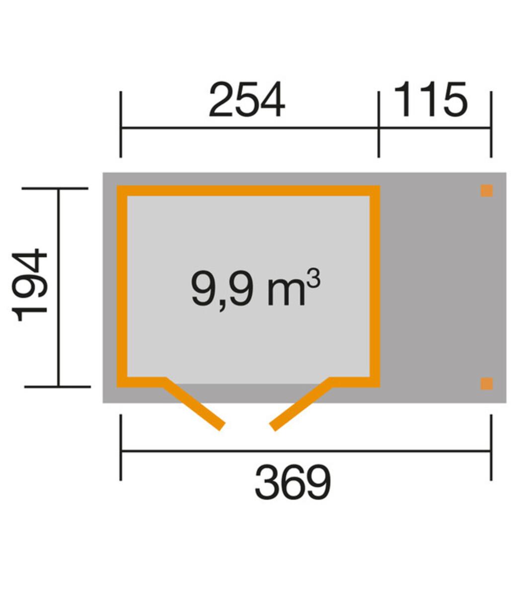 Bild 2 von Weka Gartenhaus 321 + 115 cm Anbau