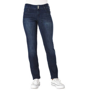 s.Oliver Jeans, dunkle Waschung, Slim-Fit, zwei Knöpfe, für Damen