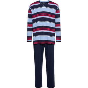 Götzburg Schlafanzug, V-Ausschnitt, geringelt, für Herren