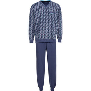 Götzburg Schlafanzug, V-Ausschnitt, gemustert, für Herren