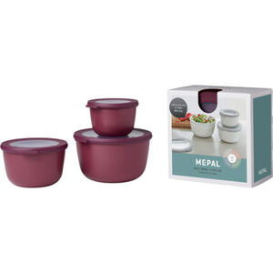 "Mepal Multischüssel-Set ""Cirqula"" hoch, 3-teilig, nordic berry"