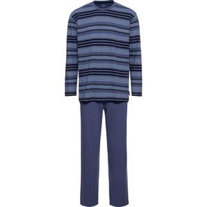 Götzburg Schlafanzug, Rundhalsausschnitt, geringelt, für Herren