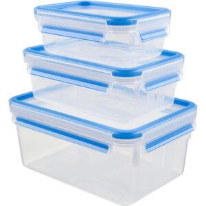 """Emsa Vorratsdosen-Set """"Clip & Close"""", verschiedene Größen, 3-teilig, blau, blau"""