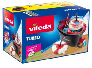 Vileda Turbo Komplett Box inkl. gratis 2in1 Turbo Ersatzkopf