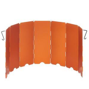 Windschutz für Campingkocher orange