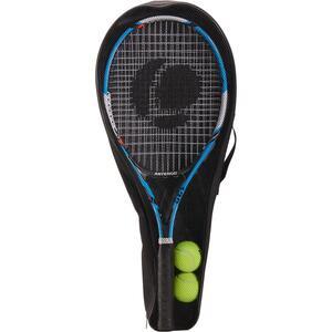 Tennisschläger-Set TR130 blau/orange und 2 Bälle TB160