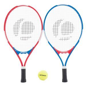 Tennis-Set Duo Kinder 2 Schläger und 2 Tennisbälle