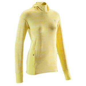 Kapuzen-Sweatshirt Run Warm Damen gelb