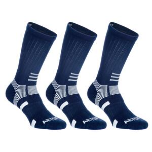 Tennissocken RS 560 High 3er-Pack blau/weiß Artengo