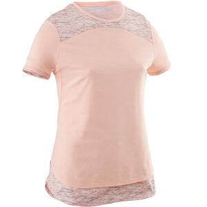 T-Shirt Gym 500 Kinder rosa