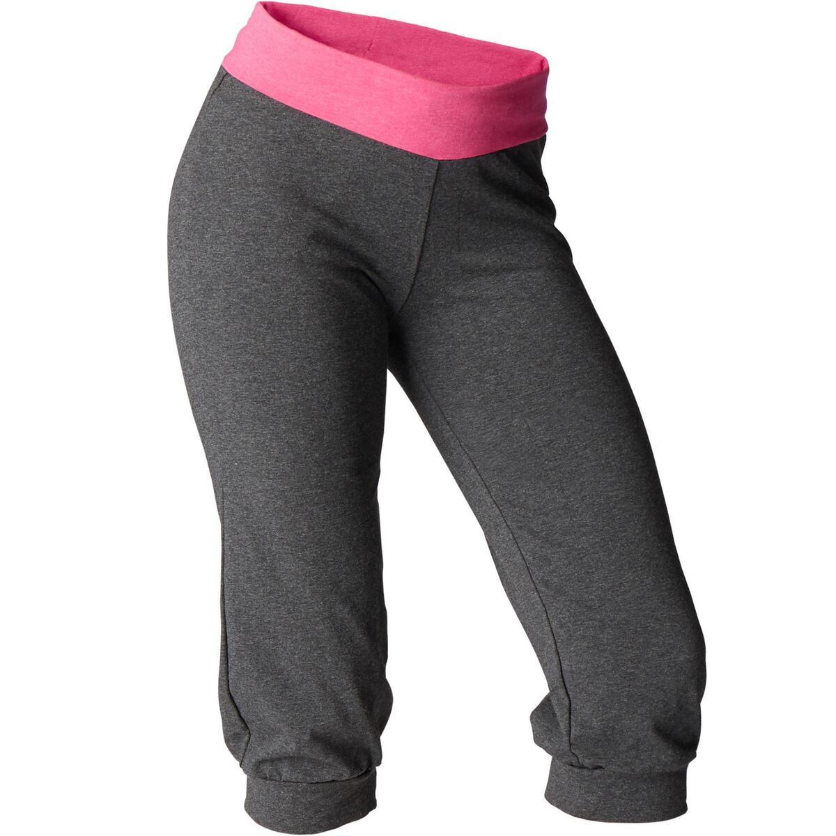 Bild 1 von 3/4-Hose sanftes Yoga Damen grau/rosa