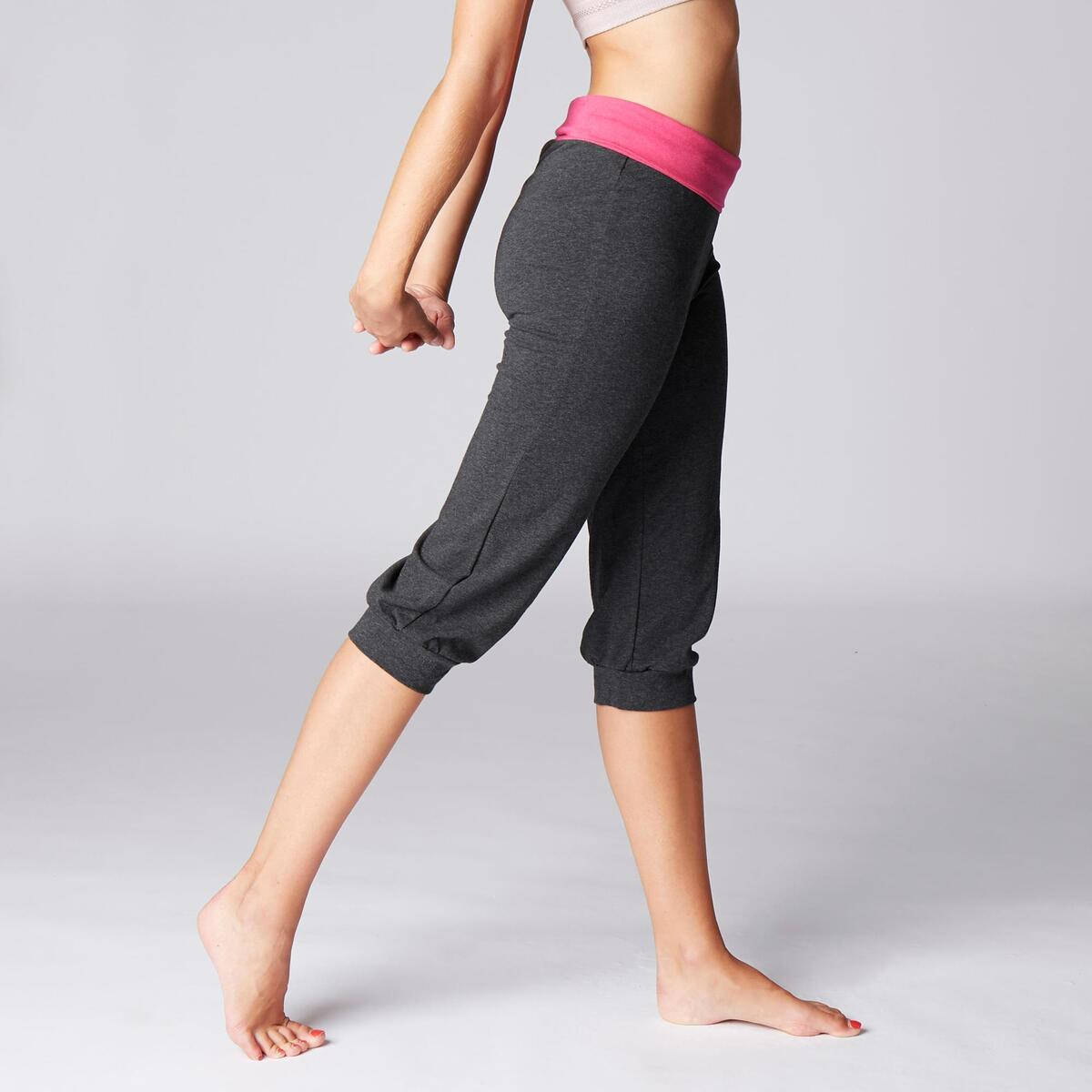 Bild 3 von 3/4-Hose sanftes Yoga Damen grau/rosa
