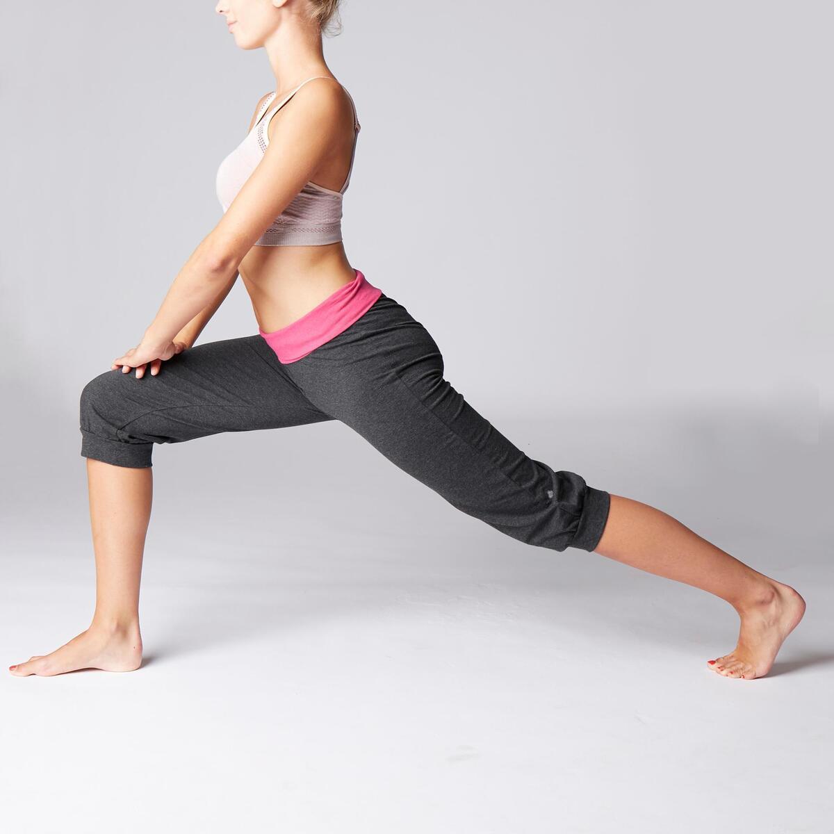 Bild 5 von 3/4-Hose sanftes Yoga Damen grau/rosa