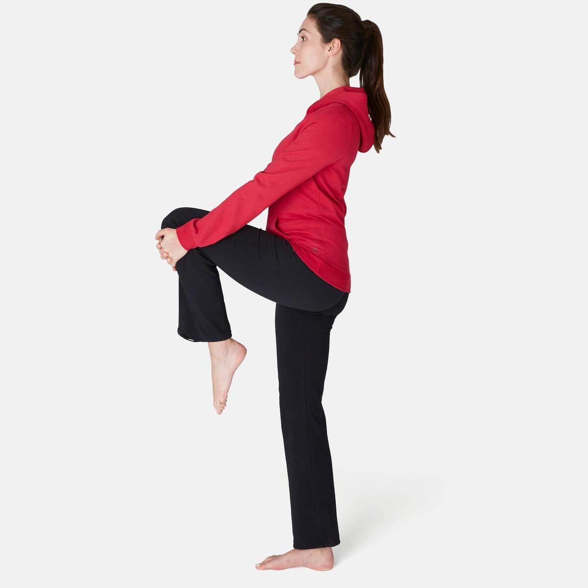 Bild 2 von Kapuzenpullover 520 Pilates sanfte Gymnastik Damen rot