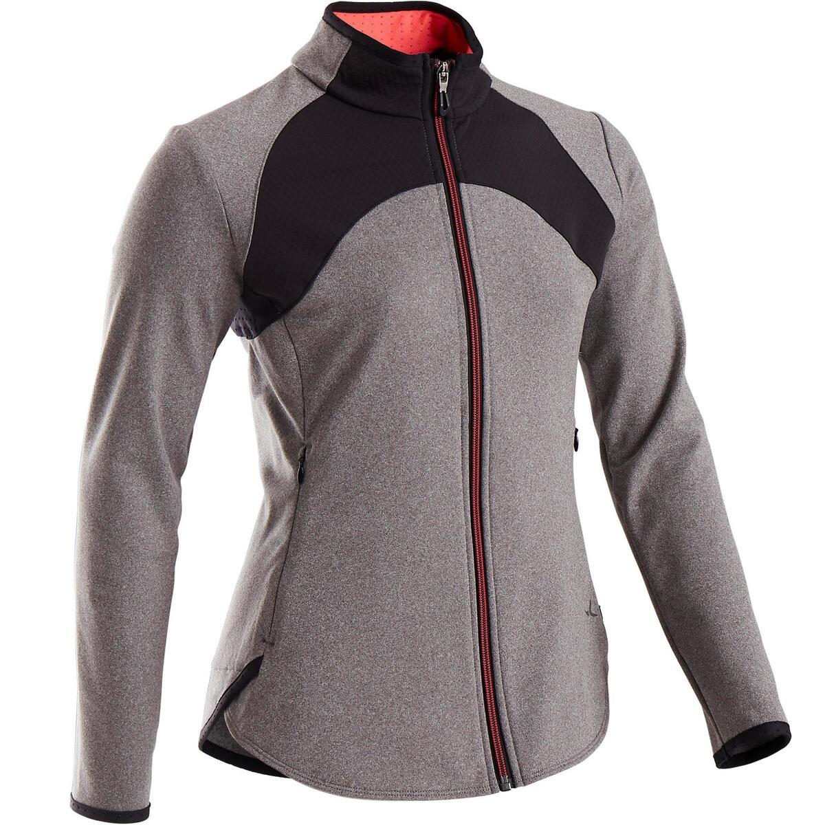 Bild 1 von Trainingsjacke warm atmungsaktiv S900 Gym Kinder grau/schwarze Einsätze