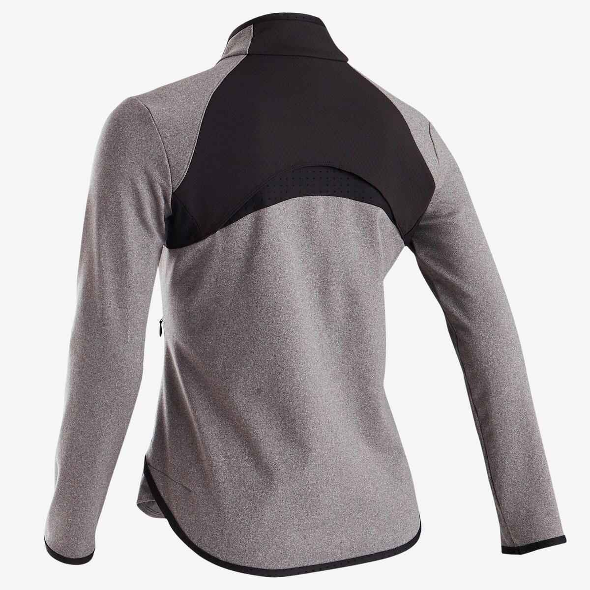 Bild 3 von Trainingsjacke warm atmungsaktiv S900 Gym Kinder grau/schwarze Einsätze