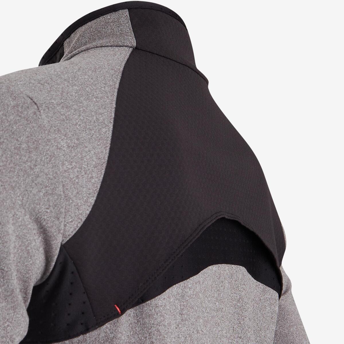 Bild 4 von Trainingsjacke warm atmungsaktiv S900 Gym Kinder grau/schwarze Einsätze
