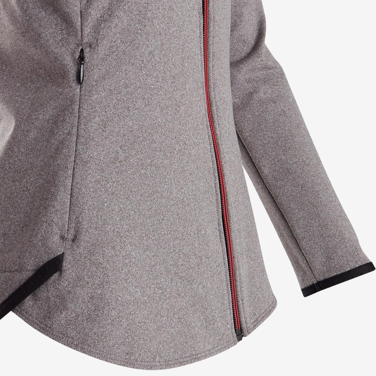 Bild 5 von Trainingsjacke warm atmungsaktiv S900 Gym Kinder grau/schwarze Einsätze