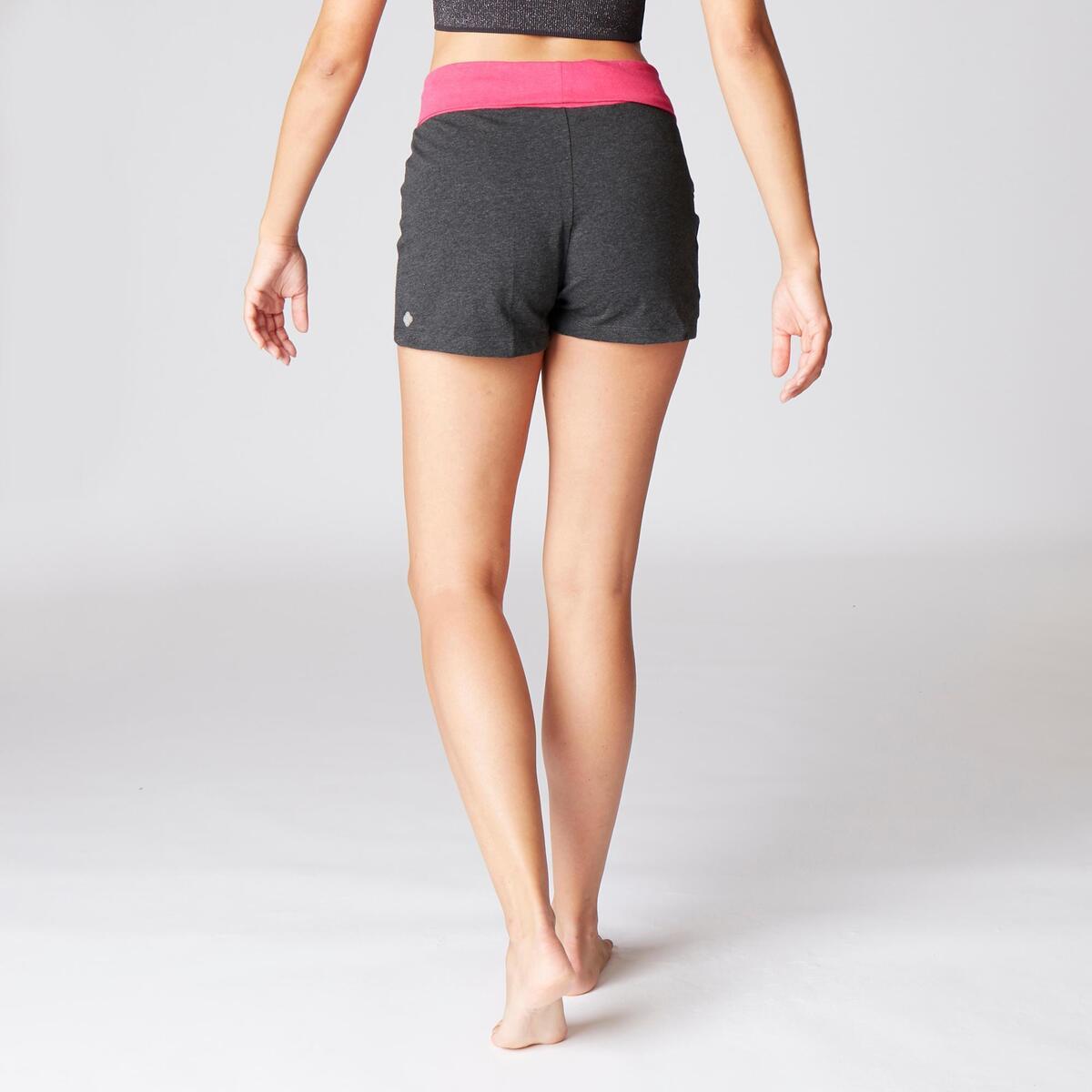 Bild 4 von Shorts sanftes Yoga Baumwolle aus biologischem Anbau Damen grau/rosa