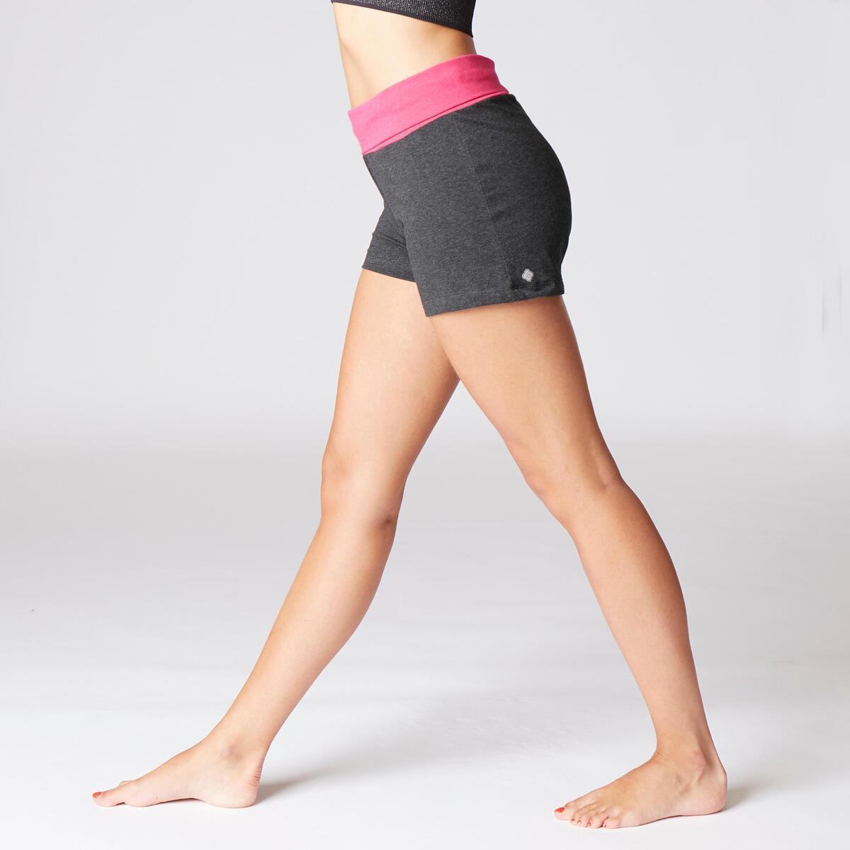 Bild 5 von Shorts sanftes Yoga Baumwolle aus biologischem Anbau Damen grau/rosa