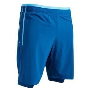 Fußballhose 3-in-1 F540 Erwachsene blau