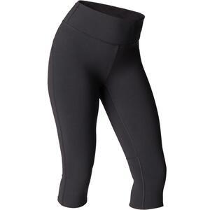 3/4-Leggings Yoga dynamisch schwarz