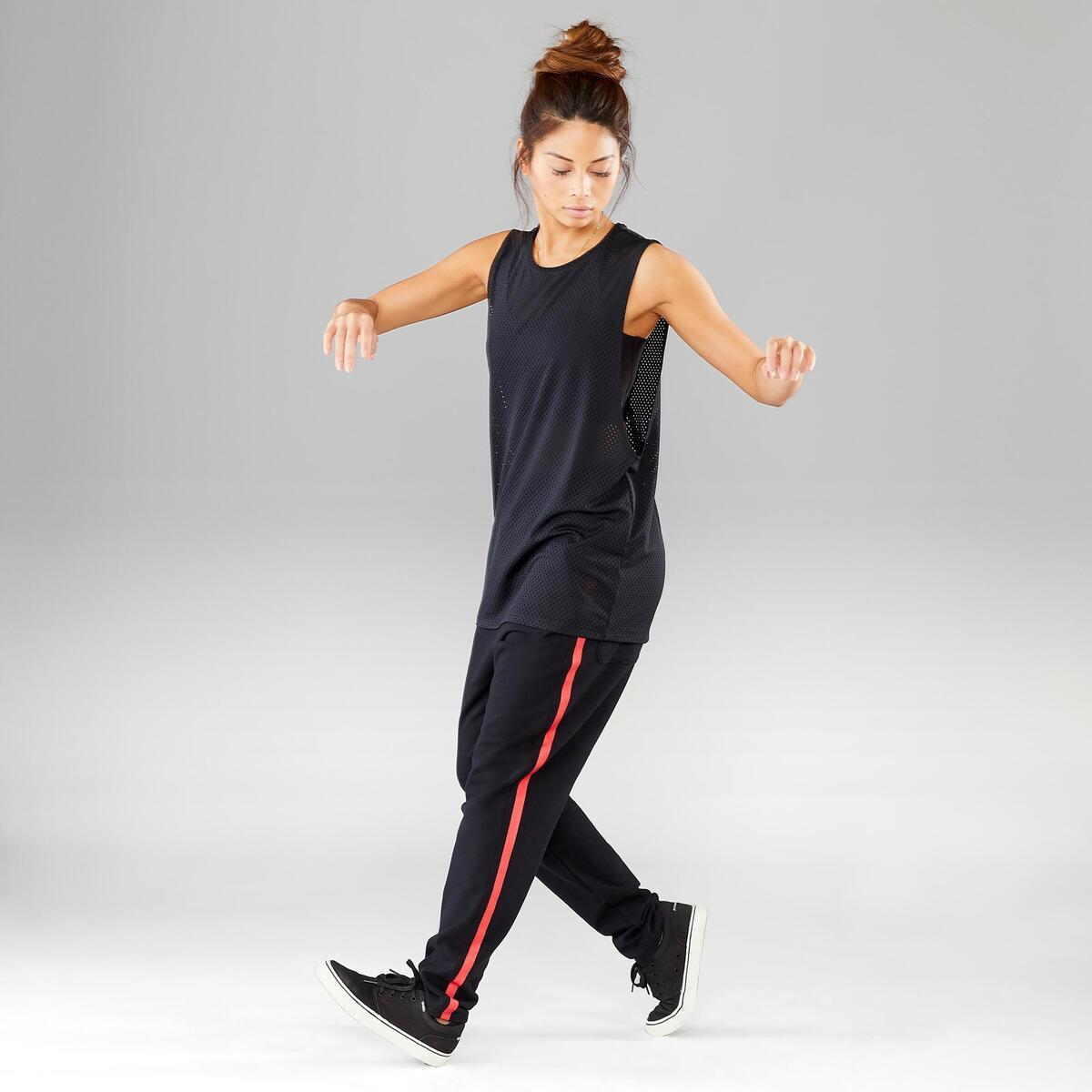 Bild 2 von Top Street Dance Damen extrem atmungsaktiv schwarz