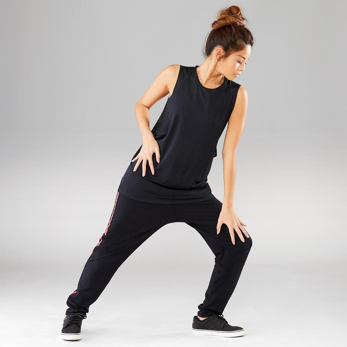 Bild 3 von Top Street Dance Damen extrem atmungsaktiv schwarz