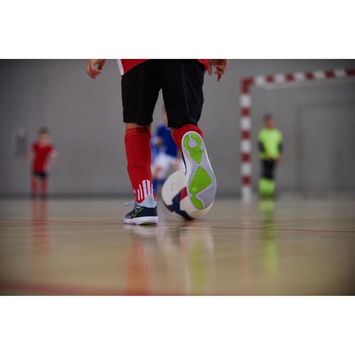 Bild 2 von Hallenschuhe Eskudo 500 Futsal Kinder blau/grau