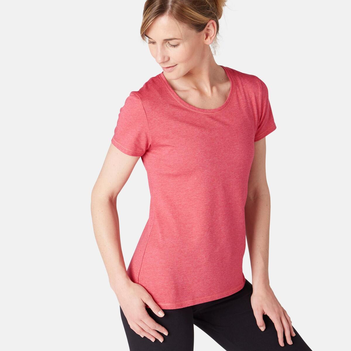 Bild 1 von T-Shirt 500 Regular Sport Pilates sanfte Gym Damen rosa