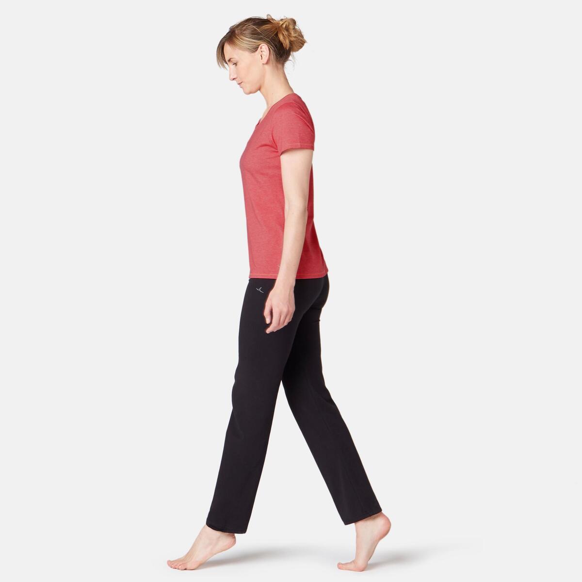 Bild 2 von T-Shirt 500 Regular Sport Pilates sanfte Gym Damen rosa