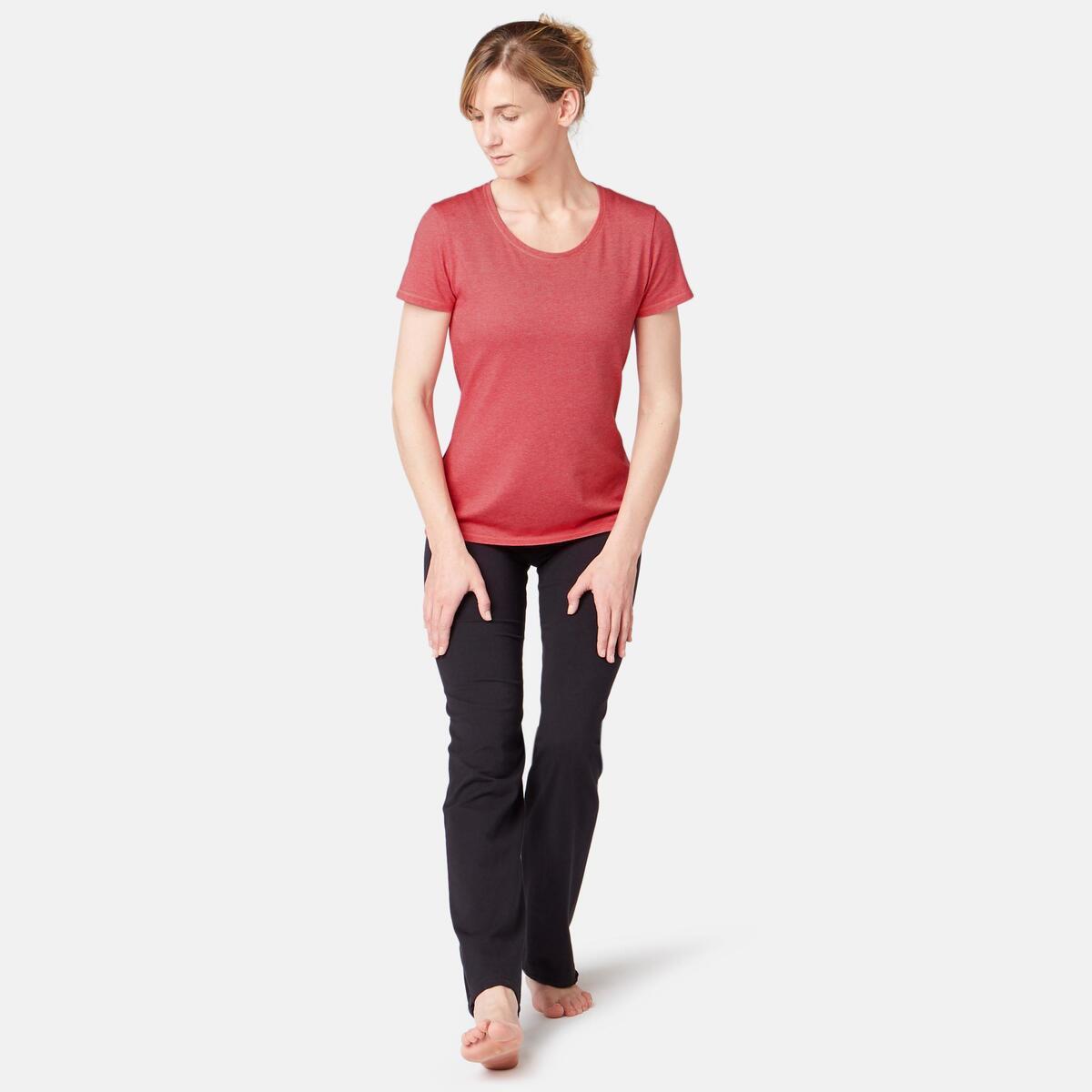Bild 3 von T-Shirt 500 Regular Sport Pilates sanfte Gym Damen rosa