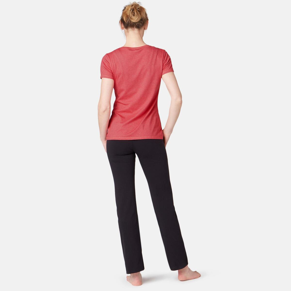 Bild 4 von T-Shirt 500 Regular Sport Pilates sanfte Gym Damen rosa