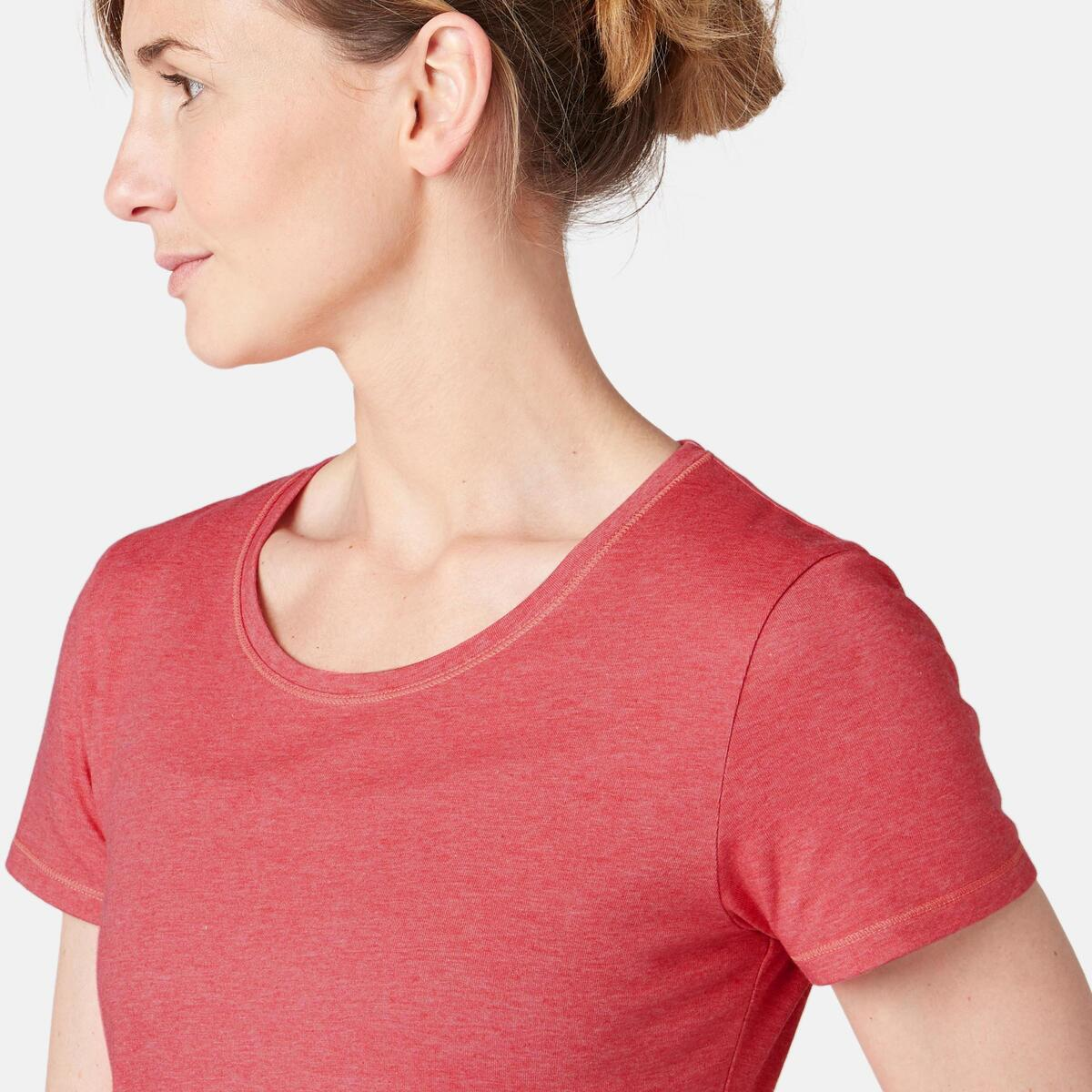 Bild 5 von T-Shirt 500 Regular Sport Pilates sanfte Gym Damen rosa