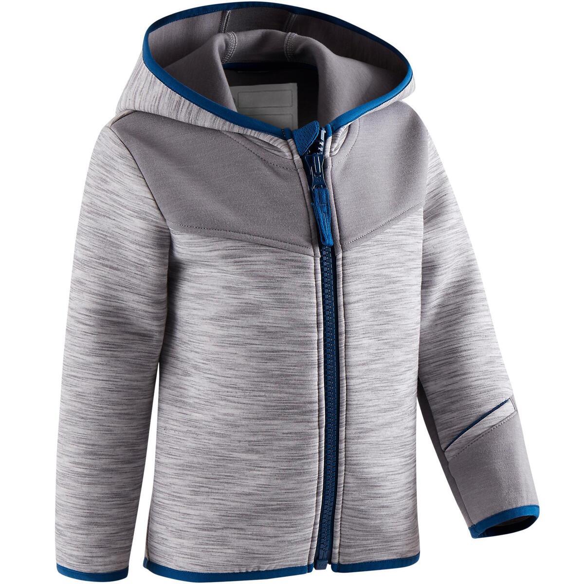 Bild 1 von Kapuzenjacke 500 Babyturnen grau/blau