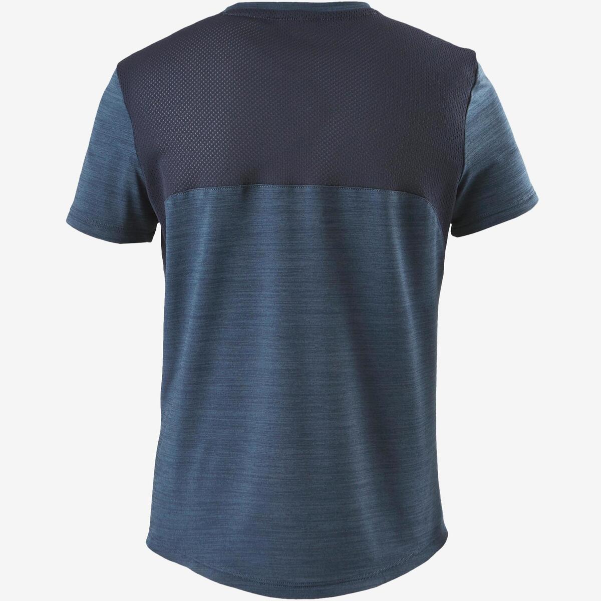Bild 2 von T-Shirt Synthetik atmungsaktiv S500 Gym Kinder dunkelblau