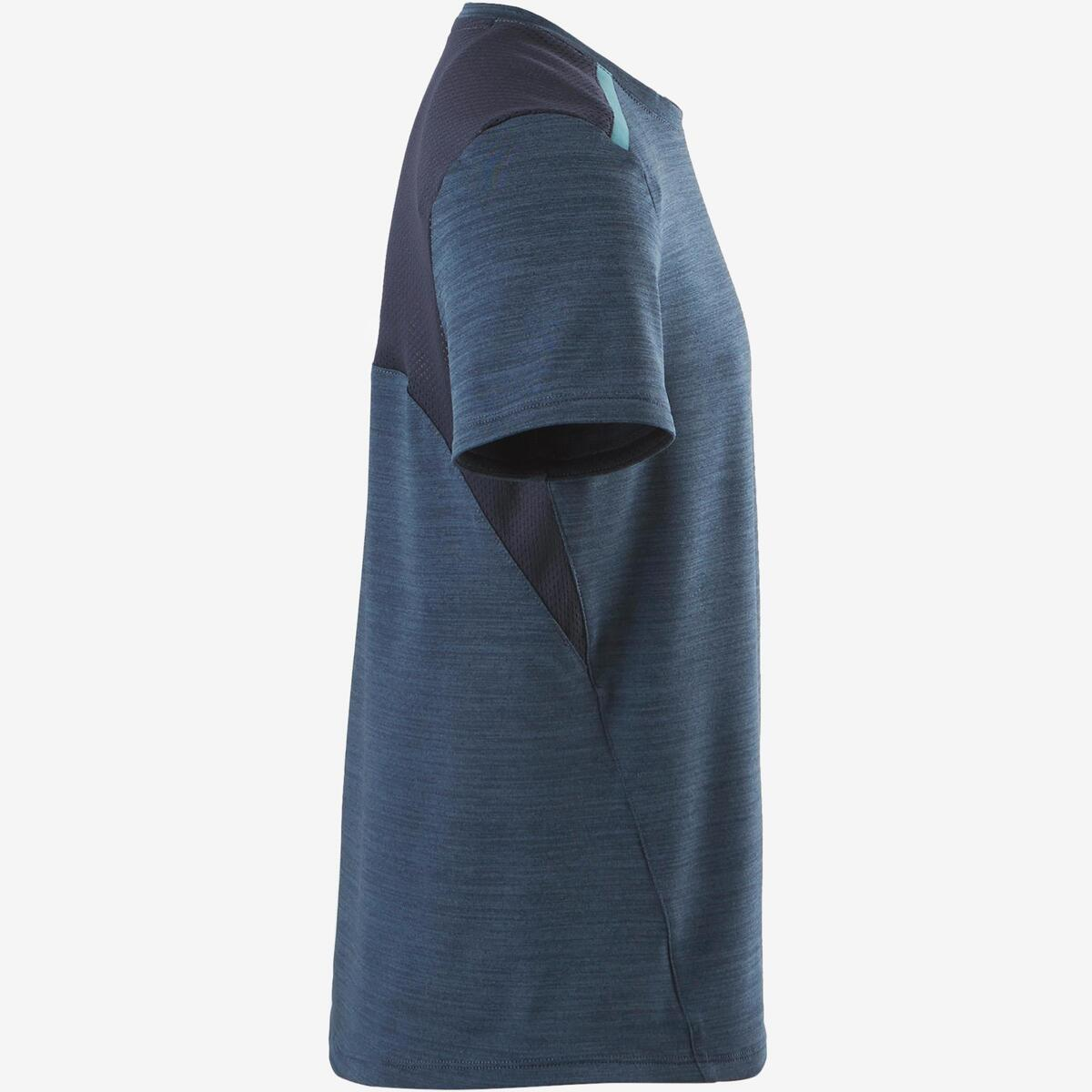 Bild 3 von T-Shirt Synthetik atmungsaktiv S500 Gym Kinder dunkelblau