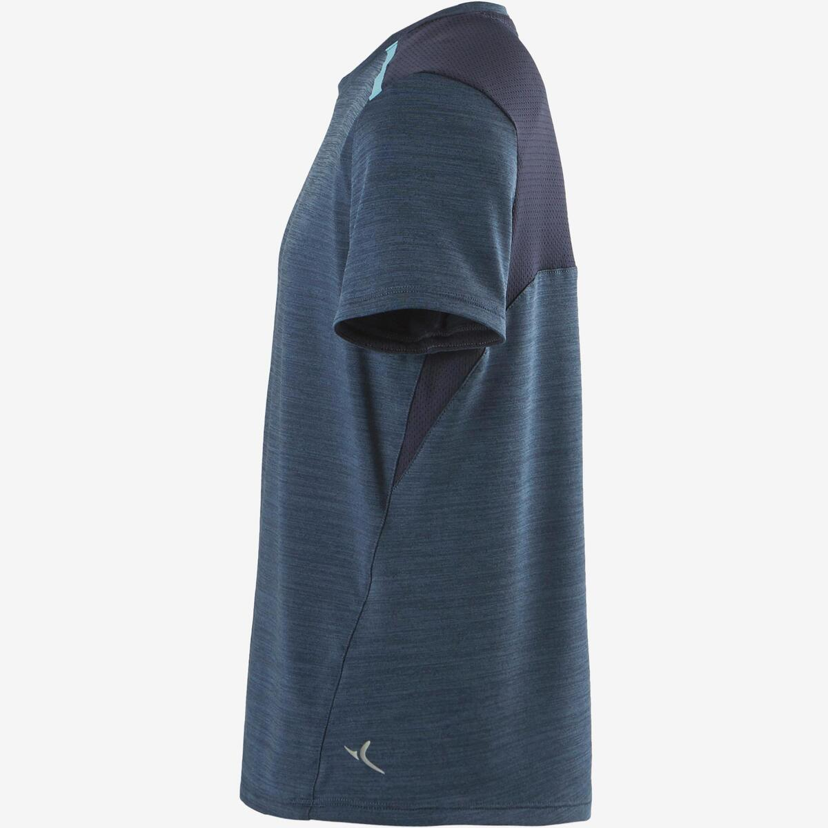Bild 4 von T-Shirt Synthetik atmungsaktiv S500 Gym Kinder dunkelblau