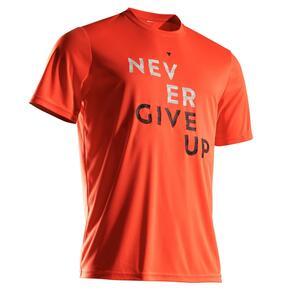 T-Shirt Soft 100 Tennisshirt Herren orange