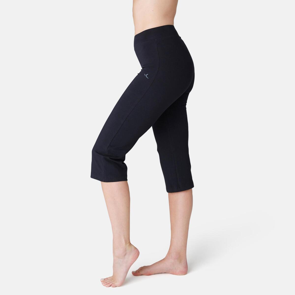 Bild 1 von 3/4-Hose Fit+ 500 Regular Gym & Pilates Damen schwarz