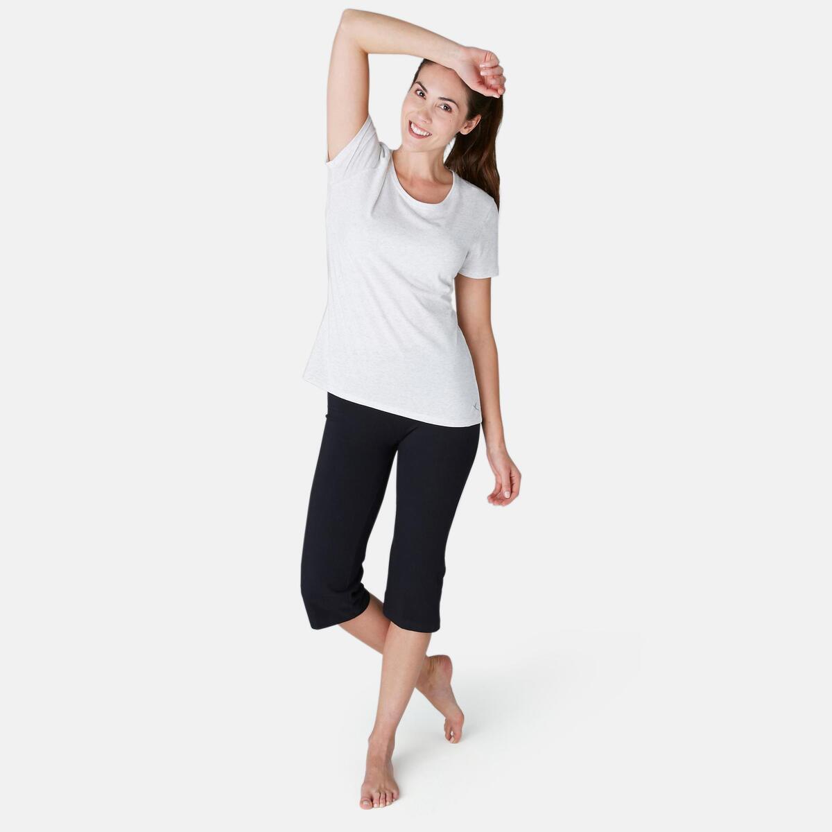 Bild 3 von 3/4-Hose Fit+ 500 Regular Gym & Pilates Damen schwarz