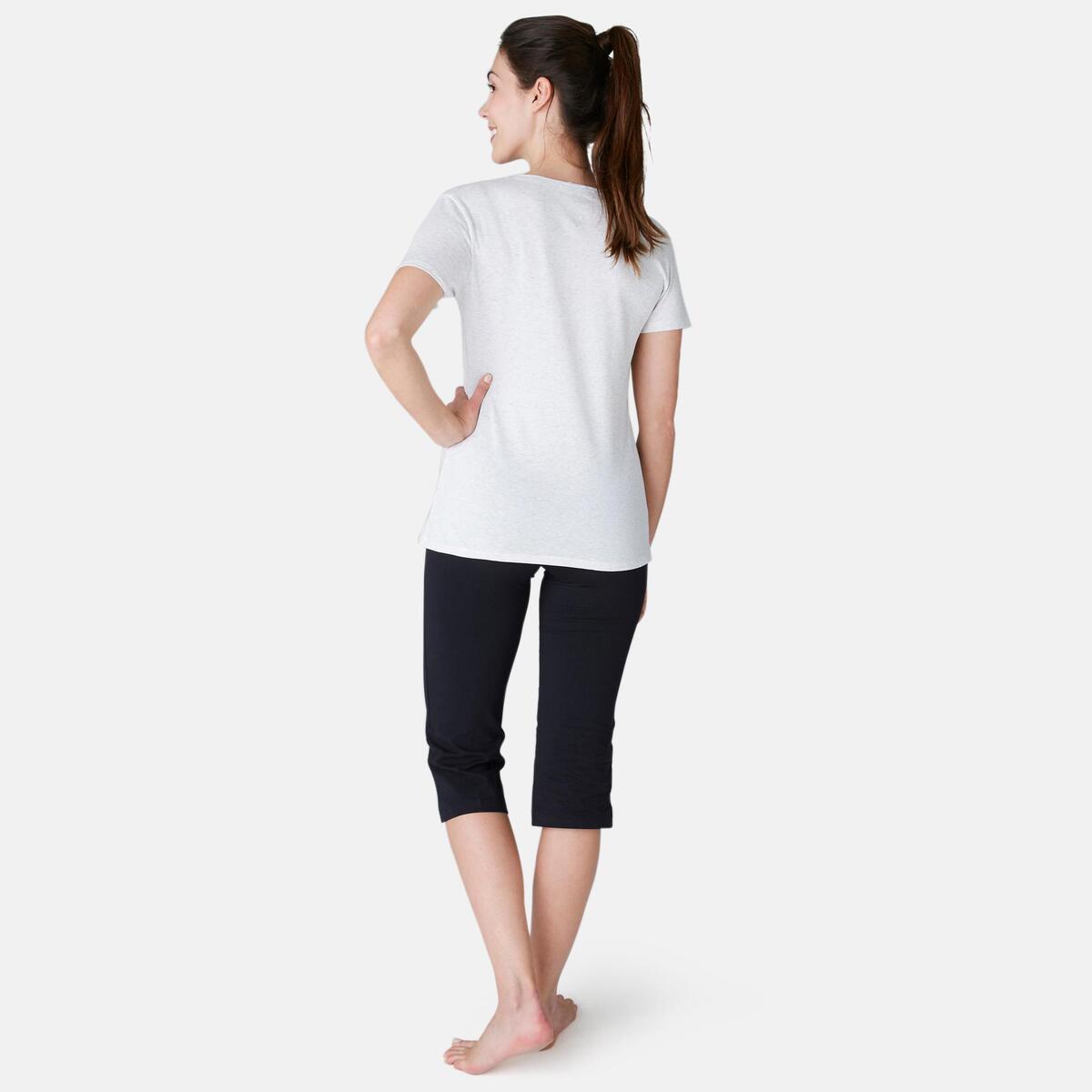 Bild 4 von 3/4-Hose Fit+ 500 Regular Gym & Pilates Damen schwarz