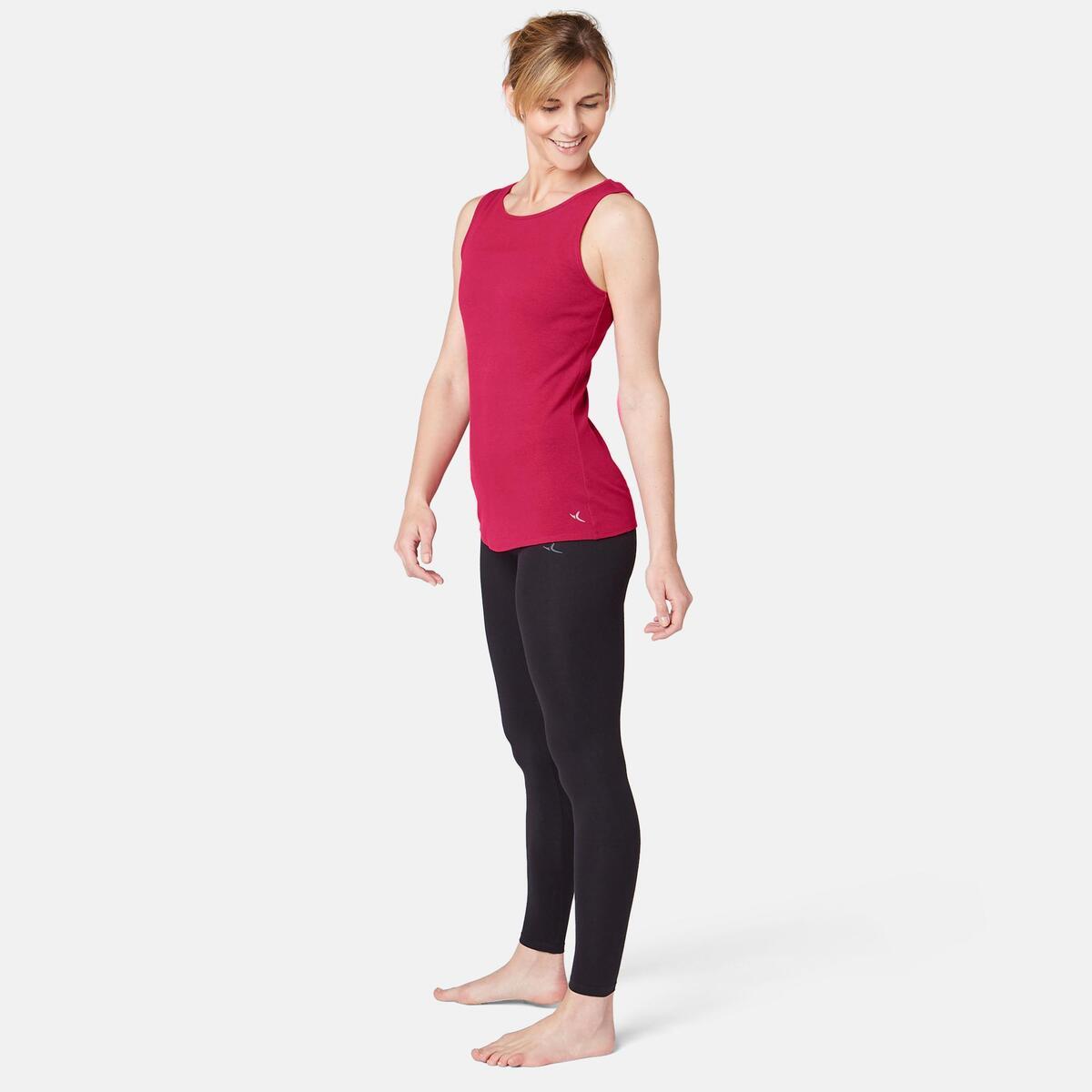 Bild 2 von Tank-Top 500 Pilates & sanfte Gymnastik Damen bordeaux meliert