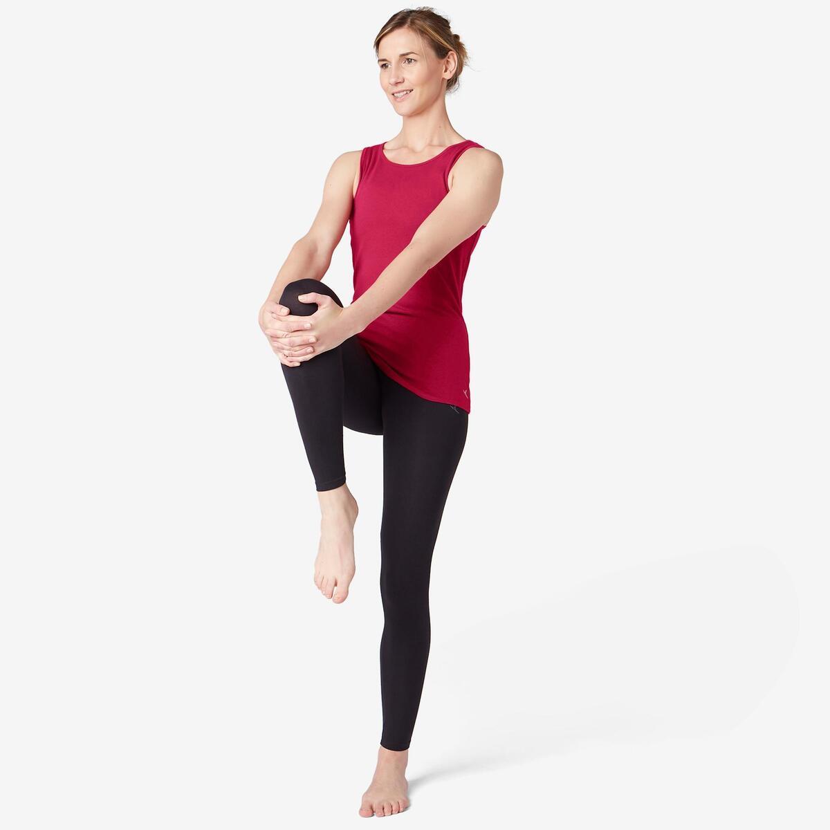 Bild 3 von Tank-Top 500 Pilates & sanfte Gymnastik Damen bordeaux meliert