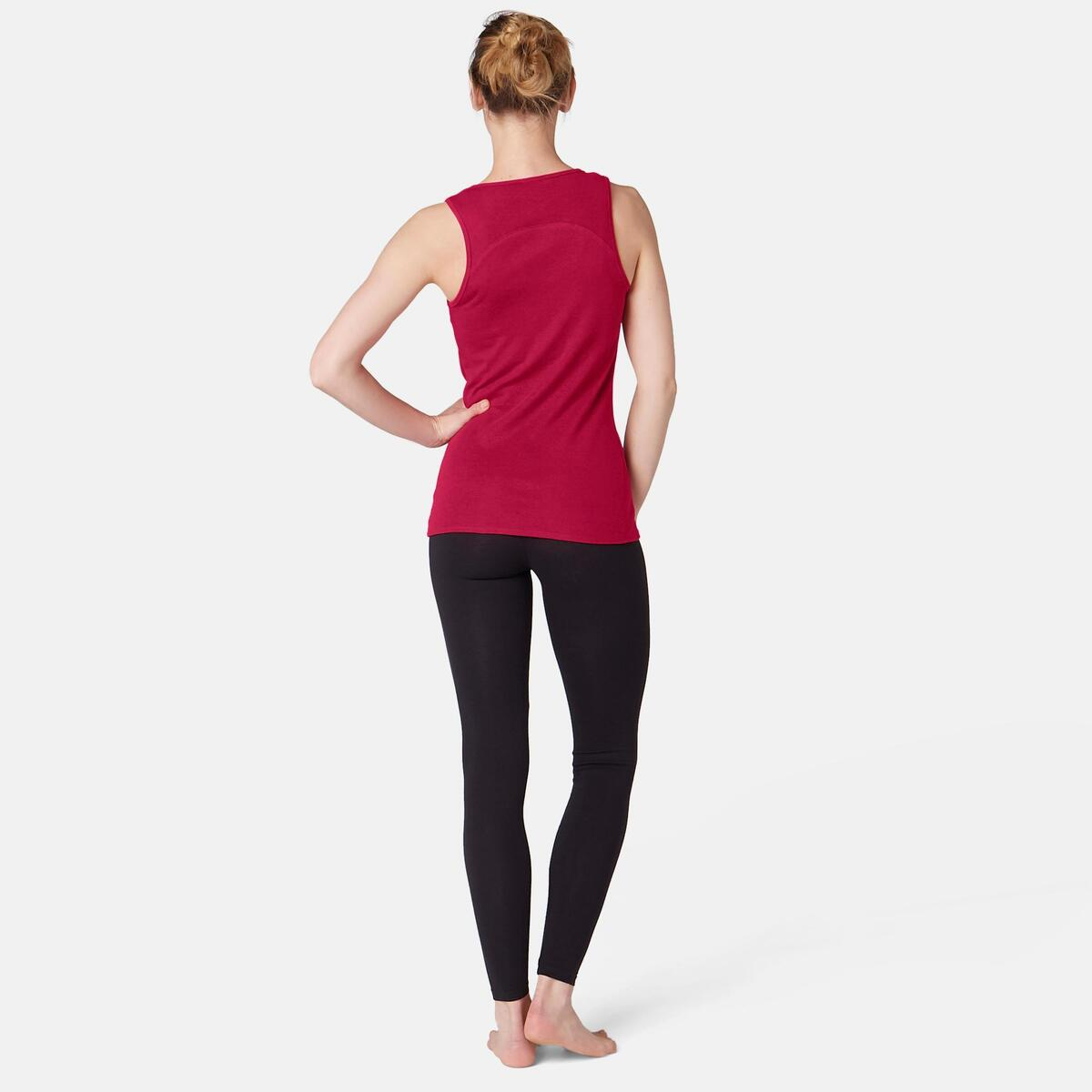Bild 4 von Tank-Top 500 Pilates & sanfte Gymnastik Damen bordeaux meliert