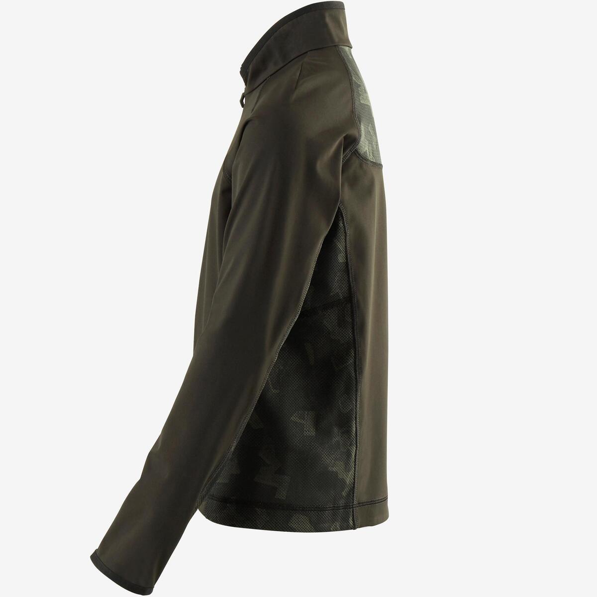 Bild 4 von Trainingsjacke leicht atmungsaktiv S900 Gym Kinder schwarz/kaki