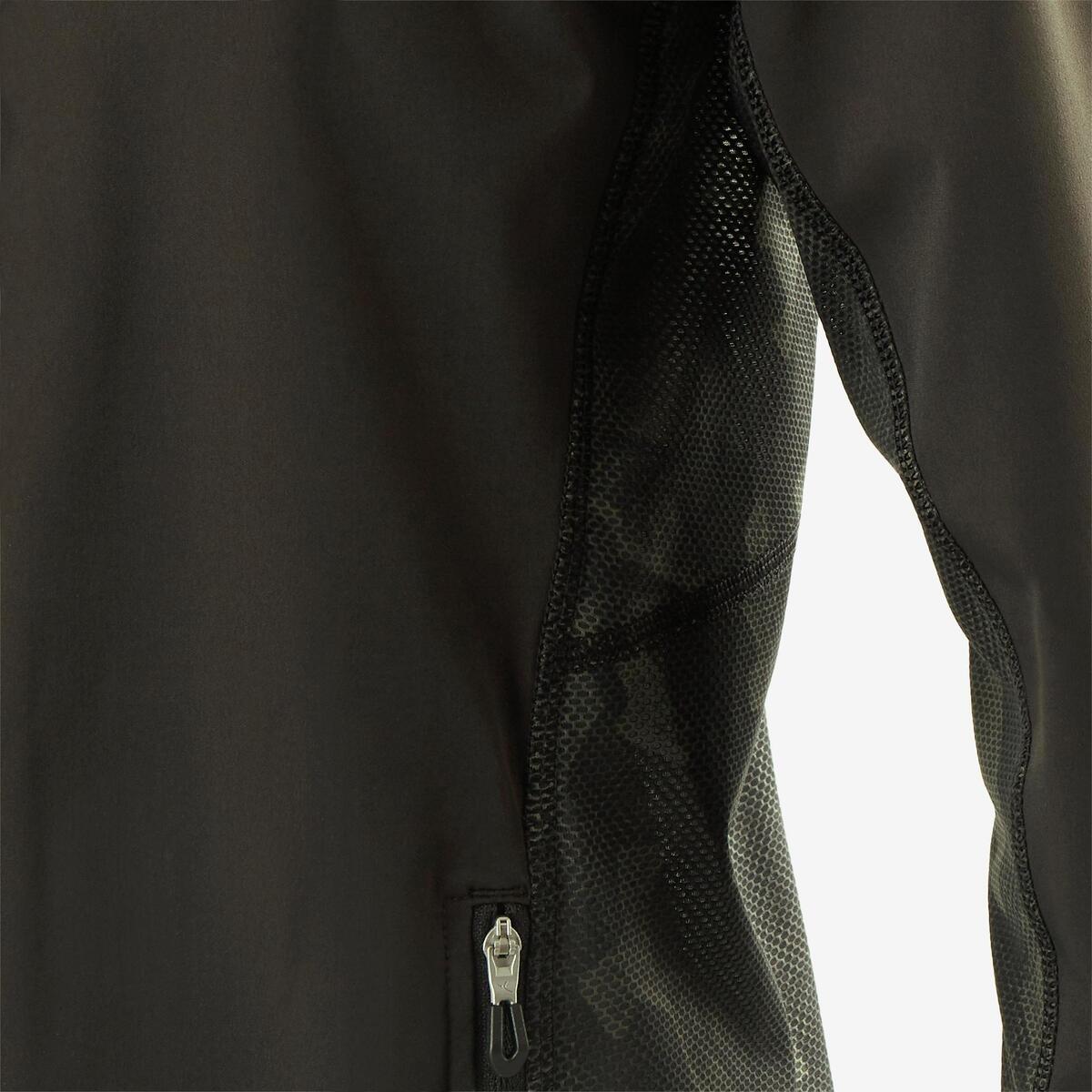 Bild 5 von Trainingsjacke leicht atmungsaktiv S900 Gym Kinder schwarz/kaki