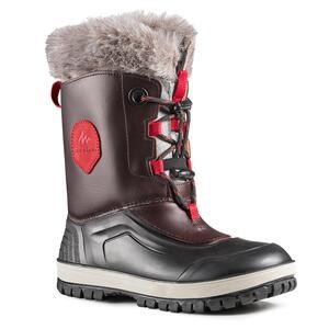 Schneestiefel SH500 Extra-Warm Leder Kinder Gr. 30-38 braun