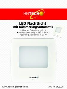 Heitech LED Nachtlicht mit Dämmerungsautomatik