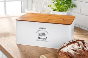 Kesper Brotkasten aus Metall und Bambus